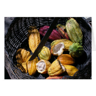 Basket of Cocoa (Blank) Greeting Card