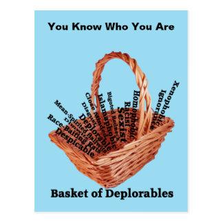Basket of Deplorables Words Postcard