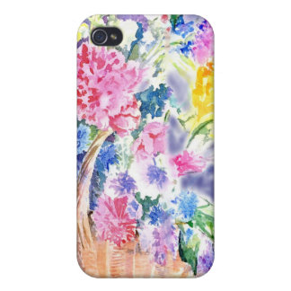 Basket of Flowers Case For The iPhone 4