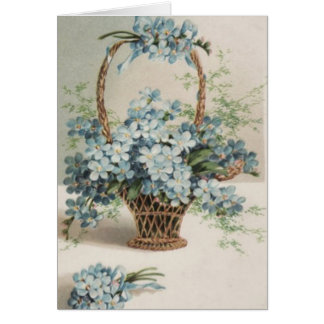 Basket of Forget-Me-Nots Mother's Day Card