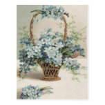 Basket of Forget-Me-Nots Mother's Day Card Postcard