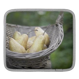 Basket of freshly picked pears iPad sleeve