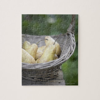 Basket of freshly picked pears. jigsaw puzzle
