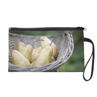 Basket of freshly picked pears wristlet