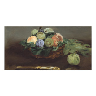 Basket of Fruit by Edouard Manet Photo Card Template