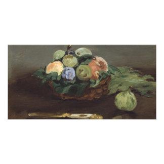 Basket of Fruit by Edouard Manet Custom Photo Card