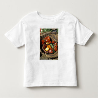 Basket of fruits and vegetables on the place toddler T-Shirt
