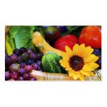 Basket of Garden's Harvest Pack Of Standard Business Cards