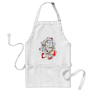 Basket of Hearts Adult Apron