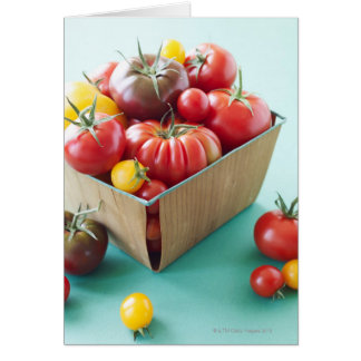 Basket of Heirloom Tomatoes Card