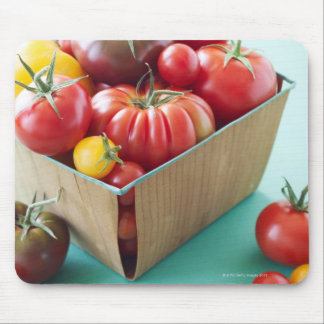Basket of Heirloom Tomatoes Mouse Mat