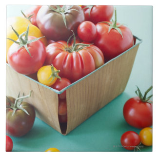 Basket of Heirloom Tomatoes Tile