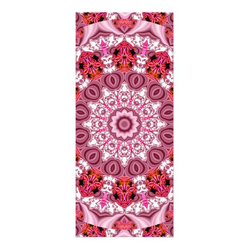Basket of Lace, Abstract Red, Pink, White Mandala Invites