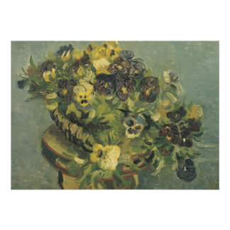 Basket of Pansies on a Small Table by Van Gogh Personalized Invitation