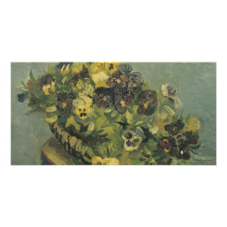 Basket of Pansies on a Small Table by Van Gogh Photo Greeting Card