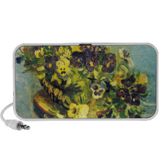 Basket of Pansies on a Table Vincent van Gogh Laptop Speaker