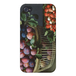 Basket of Plums and Basket of Strawberries, 1632 iPhone 4 Cover