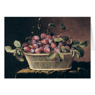 Basket of Plums Card