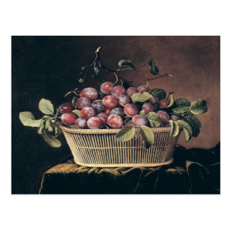 Basket of Plums Postcard