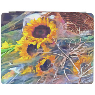 Basket of Sunflowers iPad Cover