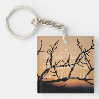 Basket of Sunset; 2013 Calendar Single-Sided Square Acrylic Key Ring