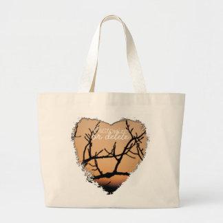 Basket of Sunset; Customizable Jumbo Tote Bag