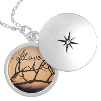 Basket of Sunset; Customizable Round Locket Necklace