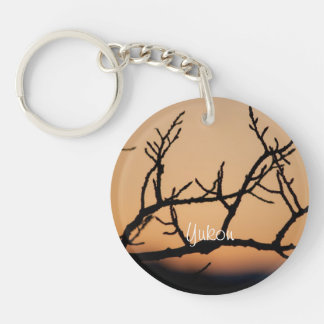 Basket of Sunset; Yukon Territory Souvenir Single-Sided Round Acrylic Key Ring