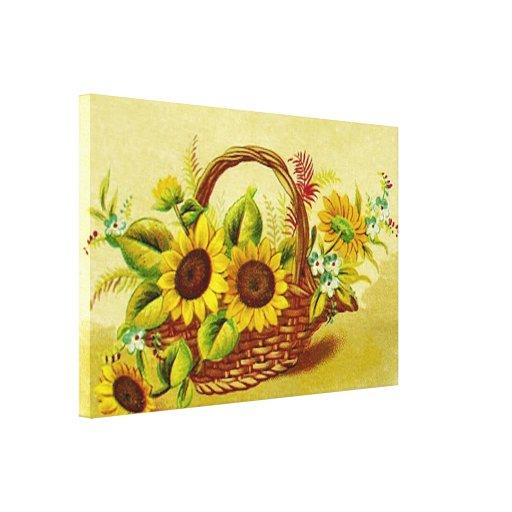 Basket of Sunshine Canvas Prints