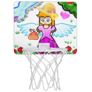 Basket of tennis shoe for small princess mini basketball hoop