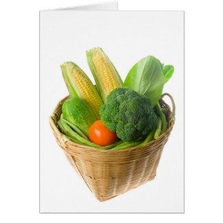 Basket of vegetables card