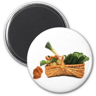 basket of vegetables fridge magnet
