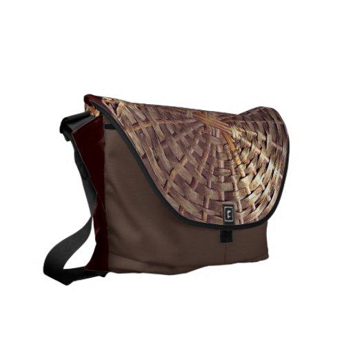 Basket Texture Messenger Bag