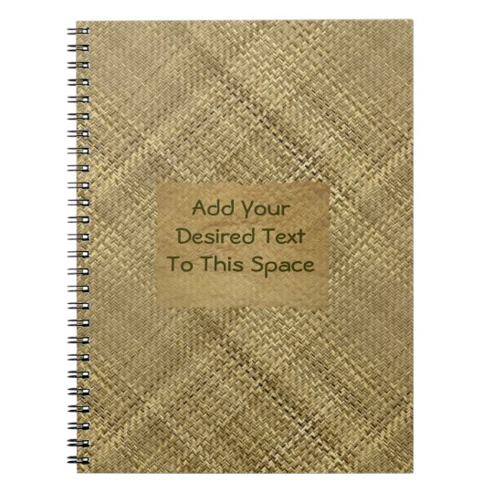 Basket Weave Effect Customisable Cover Text Notebooks