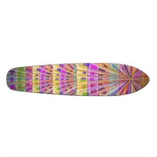 Basket Weave Light Beam Show Skateboard Deck