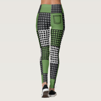 Basket Weave Mesh Pocket Leggings