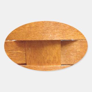 Basket weave pattern oval sticker