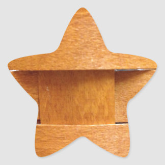 Basket weave pattern star sticker