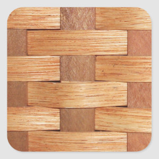 Basket Weave Pattern Square Stickers