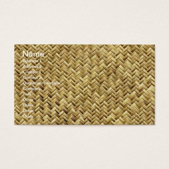 Basket weave pattern texture business card