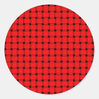 Basket Weave Round Sticker