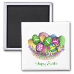 Basket with Easter eggs Magnet