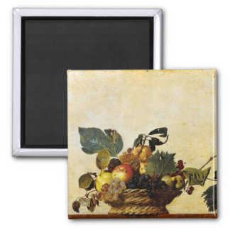 Basket with Fruit Caravaggio Fridge Magnet