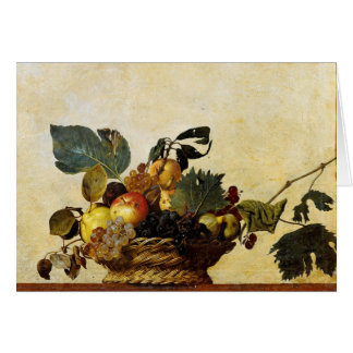 Basket with Fruit, Caravaggio Greeting Card
