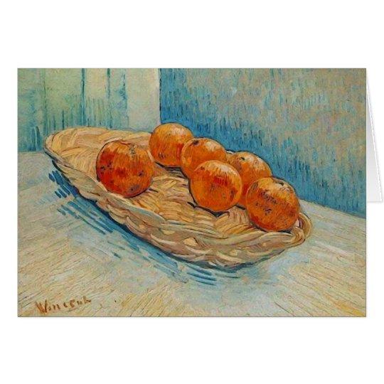 Basket with Six Oranges Van Gogh Fine Art