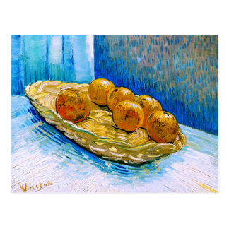 Basket with Six Oranges Van Gogh Fine Art Postcard