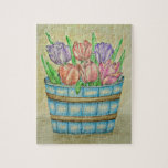 Basket with Tulips Jigsaw Puzzles