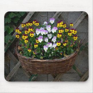 Basket With Violas Mouse Pad