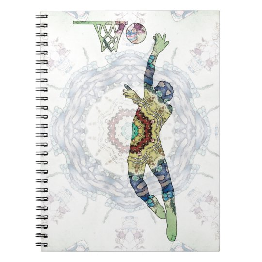 Basketball 01 spiral notebook