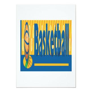 Basketball 13 Cm X 18 Cm Invitation Card